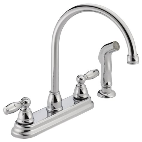 Two Handle Kitchen Faucet Repair by P299575lf Two Handle Kitchen Faucet