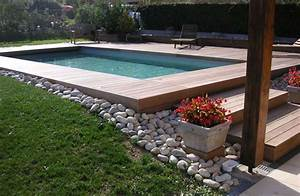 terrasse escalier en ipe ceramique pinterest With leroy merlin piscine bois 19 terrasse gravier alveole