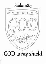 Coloring Shield Faith Bible Pages God Sunday Medieval Church Psalm Crafts Armour Study Activity Lessons Toddler Activities Journal Teacher David sketch template