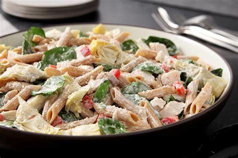 salade de pates enfant salade de p 226 tes aux 233 pinards et aux artichauts kraft canada