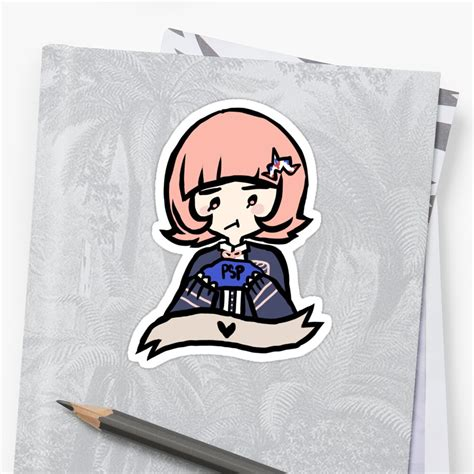 nanami chiaki sticker stickers by souda redbubble