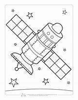 Coloring Space Pages Satellite Sheets Itsybitsyfun Printables Printable Drawing Boyama Moon Fun Planet Colour Children Astronaut Read Pencil sketch template