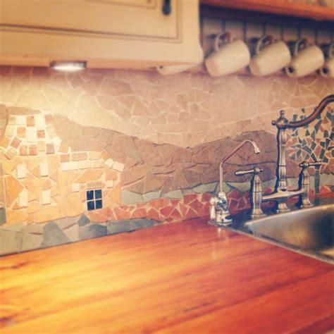 cute  bold diy mosaic kitchen backsplashes shelterness