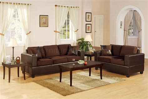 settee living room f7591 chocolote microfiber living room set by poundex