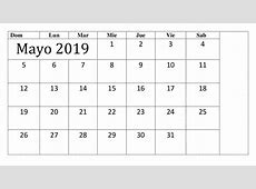 Calendario Profesional Mayo 2019 Gratis Para Imprimir