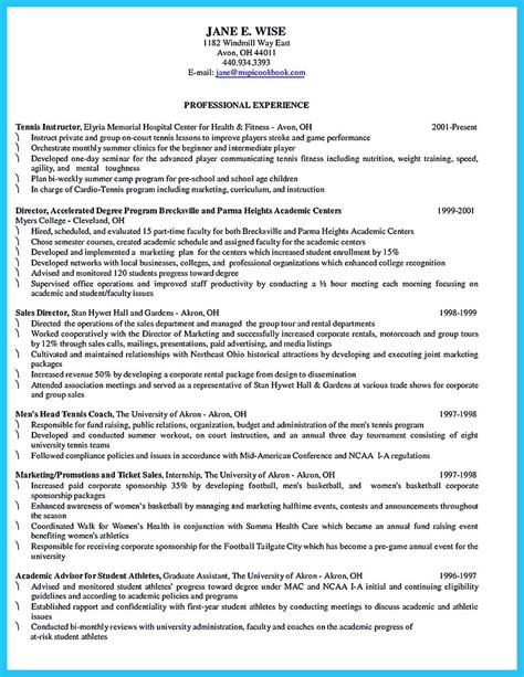 Basketball Coach Resume Sle by When You Write Your Resume Especially A Resume For A