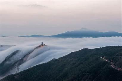Shan Fei Ngo Waterfall Clouds Friends