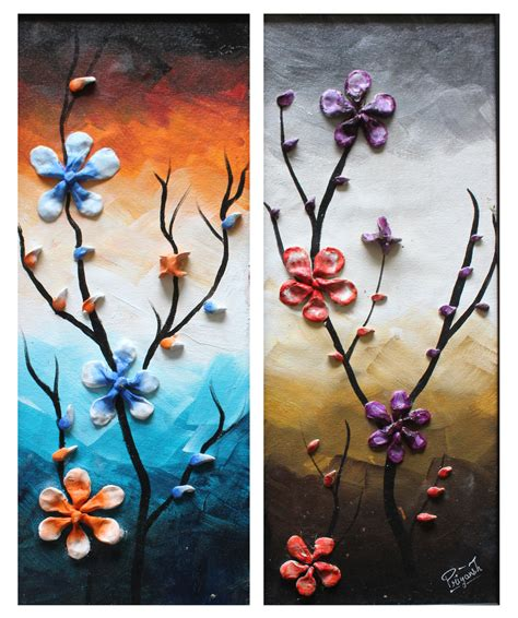 Standard wall clocks are unique in design, made from high quality metal and provided with reasonable prices. Buy 3D Flowers Handmade Painting by Priyansh Thakkar. Code ...