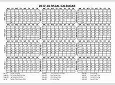 2017 Fiscal Calendar Template Starts at April Free