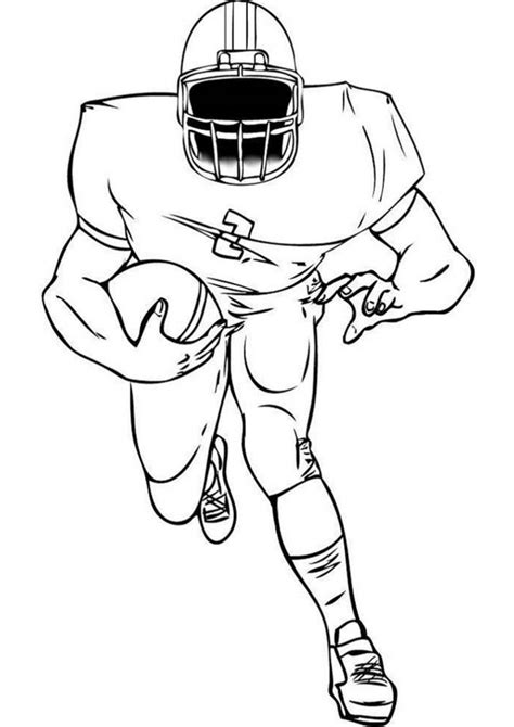 easy  print football coloring pages tulamama
