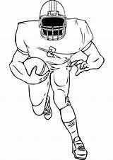 Football Coloring Easy Tulamama Play sketch template