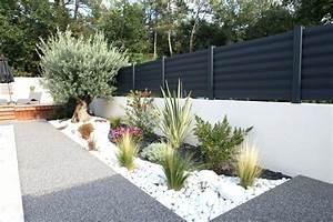 Parterre De Fleur Avec Cailloux : parterre moderne cailloux de jardin on decoration d ~ Melissatoandfro.com Idées de Décoration