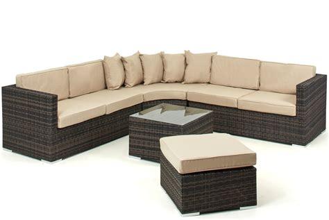 Lisbon 6-7 Seater Rattan Corner Sofa Set