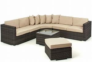 Lisbon 6 7 seater rattan corner sofa set sofa sets for 6 seater sectional sofa