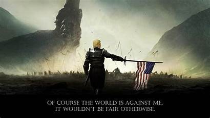 Trump Wallpapers Donald Wide Battle Epic President