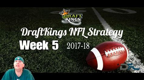 Draftkings NFL Week 5 2017-18 Picks - YouTube