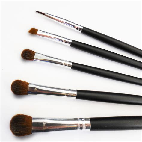 beautydec lot eye mineral makeup brushes black bare