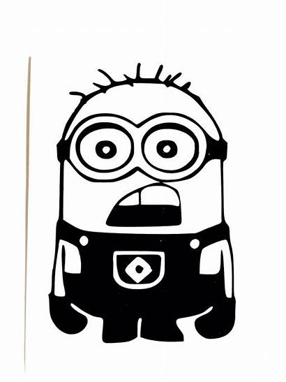 Minion Silhouette Decal Decals Vinyl Despicable Window