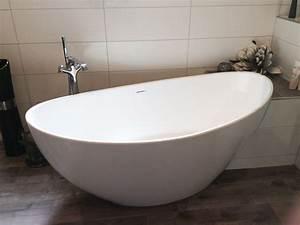 Freistehende Badewanne Mineralguss : freistehende badewanne novara aus mineralguss wei matt ~ Michelbontemps.com Haus und Dekorationen