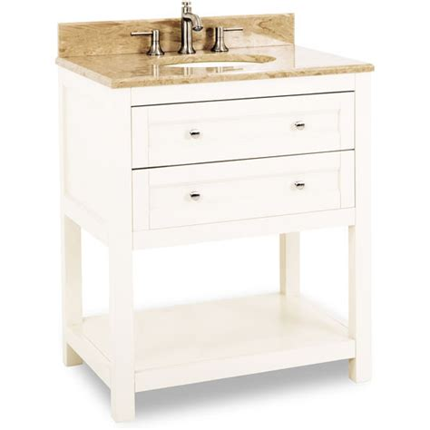 30 Inch White Bathroom Vanity Without Top by Jeffrey Astoria Modern Bathroom Vanity With