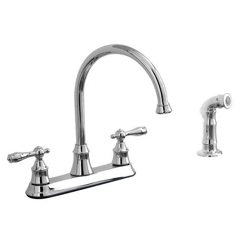 aquasource kitchen faucets shop aquasource chrome 2 handle high arc kitchen faucet