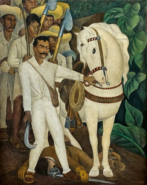 agrarian leader zapata murals for the museum of modern art