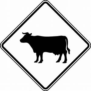 Cattle Crossing, Black and White | ClipArt ETC