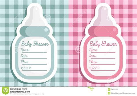 babyparty flaschen einladungen vektor abbildung