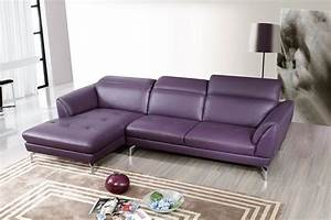 top grain purple sectional sofa tufted seats With purple tufted sectional sofa
