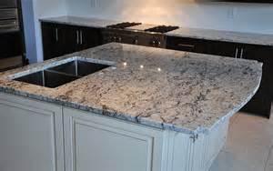 White Ice Granite with Dark Cabinets