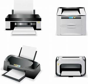 Printers set Free vector in Adobe Illustrator ai ( .AI ...