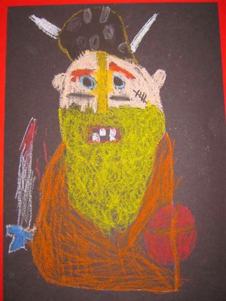 cressida cowell viking portraits art activity  kids