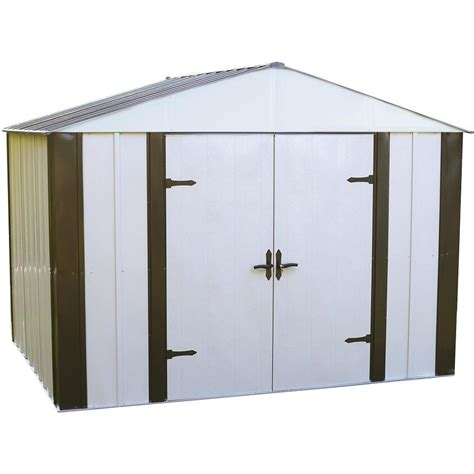 Arrow Metal Shed Assembly by Shop Arrow Designer Galvanized Steel Storage Shed Common