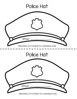 community helpers hats coloring pages community helper hat crafts by dandy lions tpt