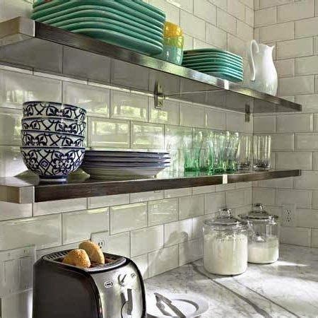 disenos de cocinas  estantes abiertos decora hogar