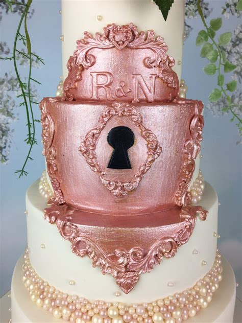 fairytale rose gold lock wedding cake mels amazing cakes