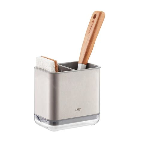 kitchen sink caddy oxo stainless steel sink caddy the container