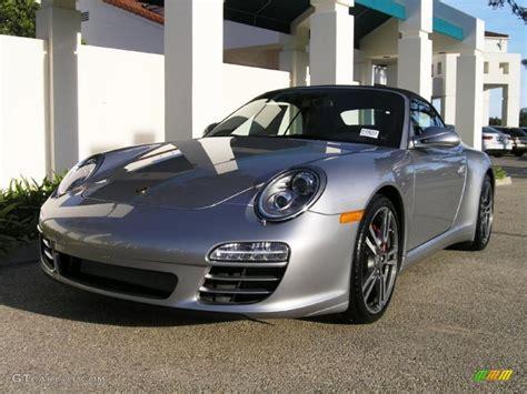 silver porsche carrera 2011 gt silver metallic porsche 911 carrera 4s cabriolet