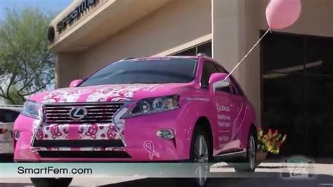 lexus pink pink lexus for breast cancer awareness month on smartfem