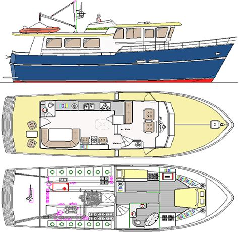 Free Fiberglass Boat Building Plans by Trawler Yacht 43 Boat Boat Building Boatbuilding Boat