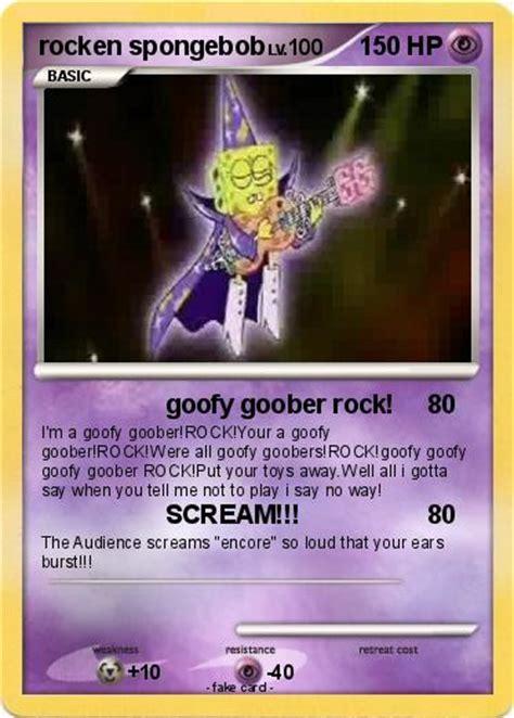 pokemon rocken spongebob goofy goober rock  pokemon