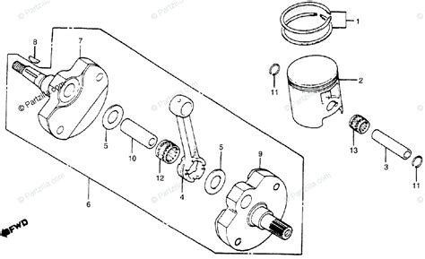 honda motorcycle 1983 oem parts diagram for crankshaft piston partzilla