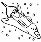 Spaceship Coloring Transportation Rocket Kb Space sketch template