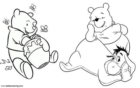 winnie  pooh eeyore coloring pages  printable