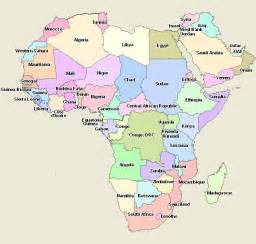 African Africa Countries Map