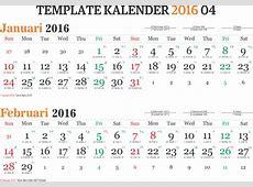 Template Kalender 2016 04 Editable Vector Corel CDR Ai PSD