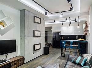 Acherno Wohnung Design Beton Ziegel Und Eisen