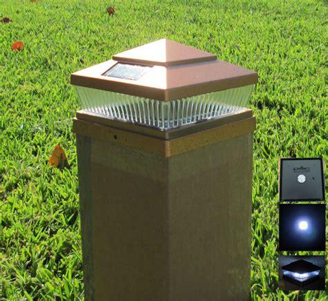 solar post cap deck fence led lights 5x5 6x6 copper black