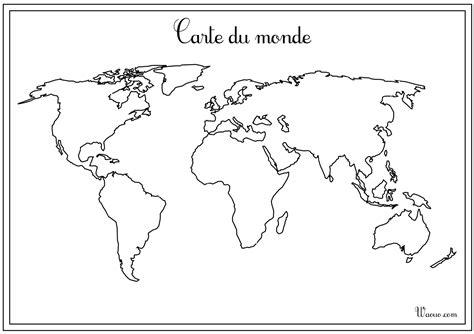 Carte Muette Monde à Imprimer by Carte Du Monde Vierge 224 Imprimer