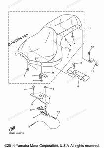 Yamaha Motorcycle 2015 Oem Parts Diagram For Seat